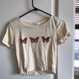 Urban Outfitters Truly Madly Deeply Butterfly Top